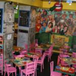 Restaurante mexicano La Mordida, con niños