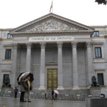 Fachada del Congreso de los Diputados, en la Carrera de San Jerónimo.