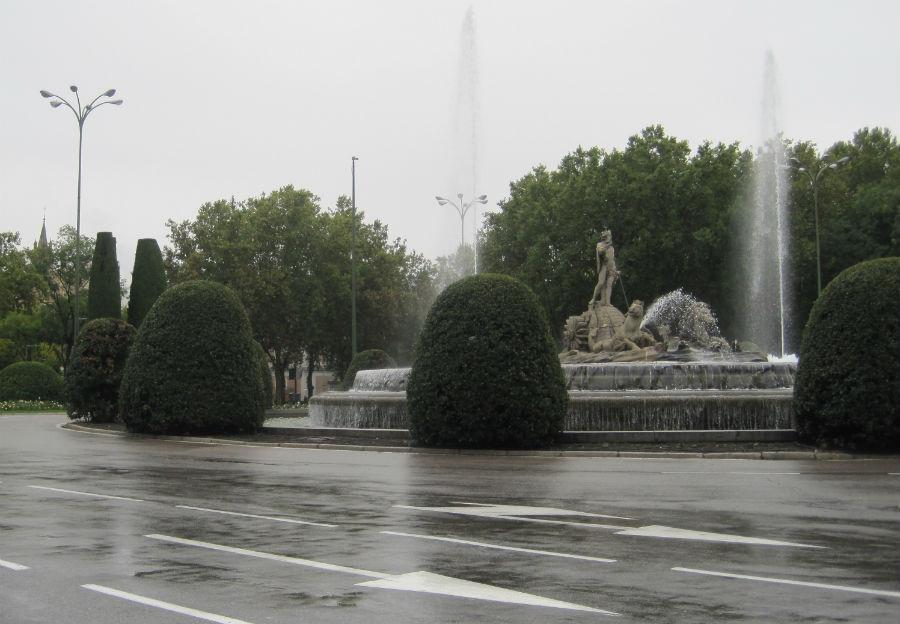 La fuente de Neptuno se encuentra en el Paseo del Prado