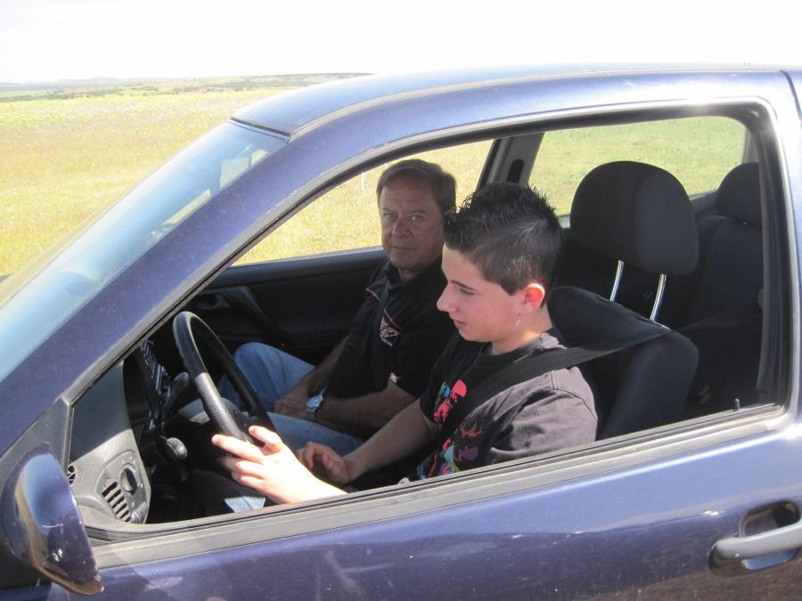 Curso de conducción para niños: clase práctica