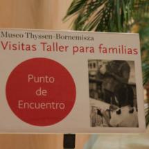 Acceso al espacio de visitas taller para familias en el Museo Thyssen