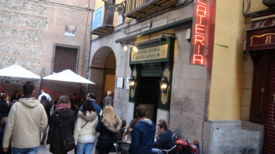 Chocolatería tradicional San Ginés, en Madrid