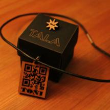 El colgante Tala se pide por internet y cuesta 19 euros.