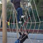 Miniparques infantiles en el Madrid Río.