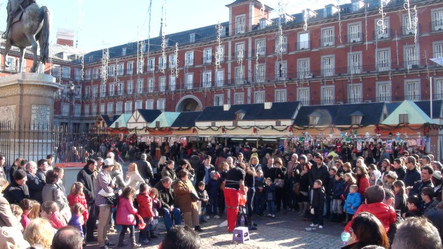 Plaza mayor navidad images galleries - Mercadillo antiguedades madrid ...