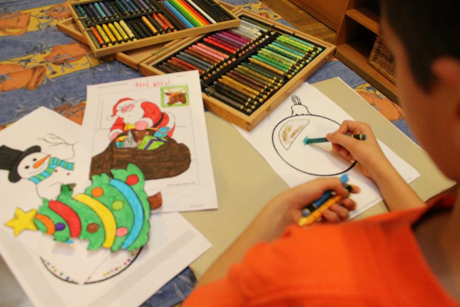 Pintando dibujos en casa motivos navide os - Motivos navidenos dibujos ...