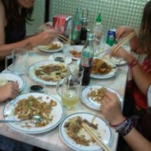 Este restaurante chino es un sitio peculiar que invita a compartir.