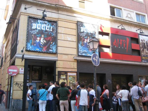Fachada del Teatro Alfil, en Madrid