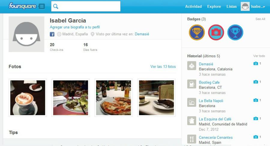 Foursquare: una red de geoposicionamiento a tu servicio