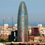 Torre Agbar, espectáculo de luces en Barcelona