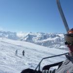 Vista de las pistas de esquí de Baqueira desde un remonte
