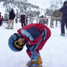 A partir de los cinco años, los niños ya pueden calzarse los esquíes.