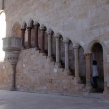 Escaleras del monasterio de Santa María de Huerta.