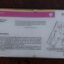 Información de la estructura del monasterio de Santa María de Huerta.