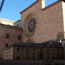 Santa María de Huerta: perspectiva del monasterio.