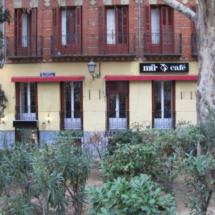 El Café Mür está muy bien situado, cerca de la Plaza de España