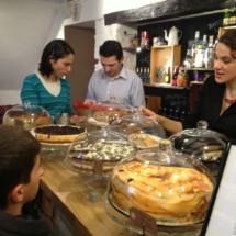 Los niños son muy bien acogidos en el Café Mür, y las tartas muy bien acogidas por los niños