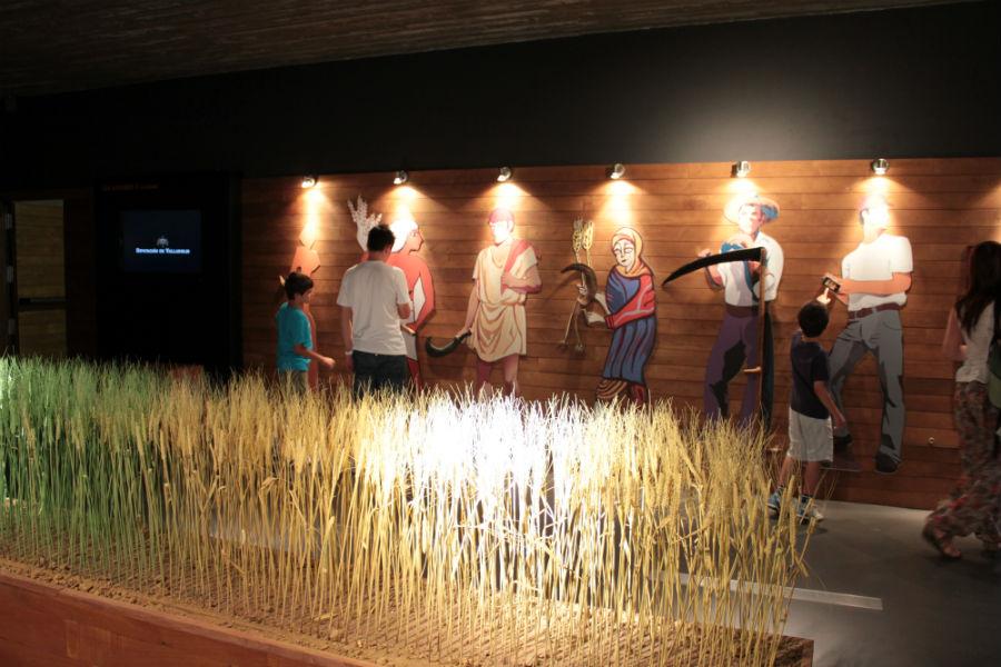 Vista de una de las salas del Museo del Pan, en Mayorga