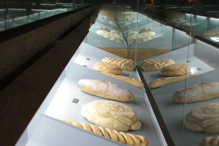 Diferentes tipos de pan en el museo de Mayorga