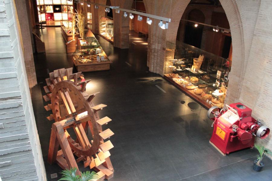 Vista de una de las plantas del Museo del Pan, en Mayorga