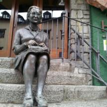 Estatua en Vielha, Valle de Arán