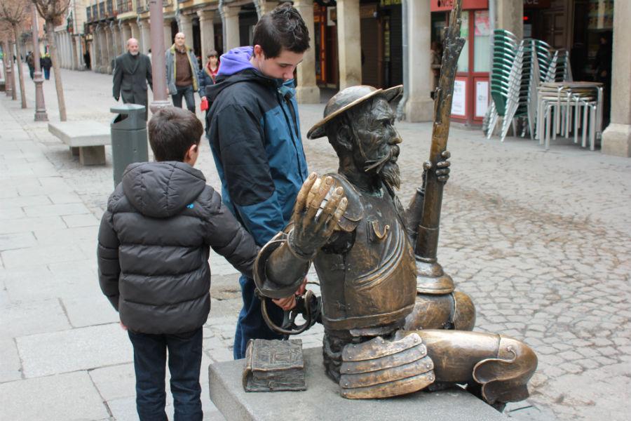 Casa de Cervantes, en la Calle Mayor de Alcalá de Henares