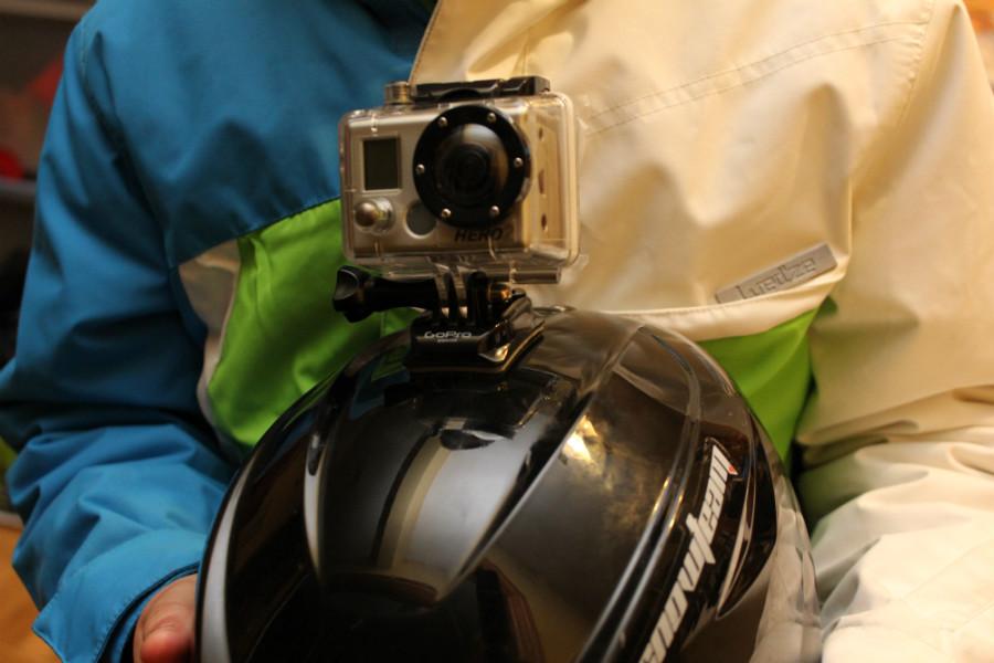 La cámara GoPro es compacta y permite filmar 'en primera persona'.