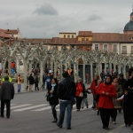 Plaza Cervantes y centro histórico de Alcalá