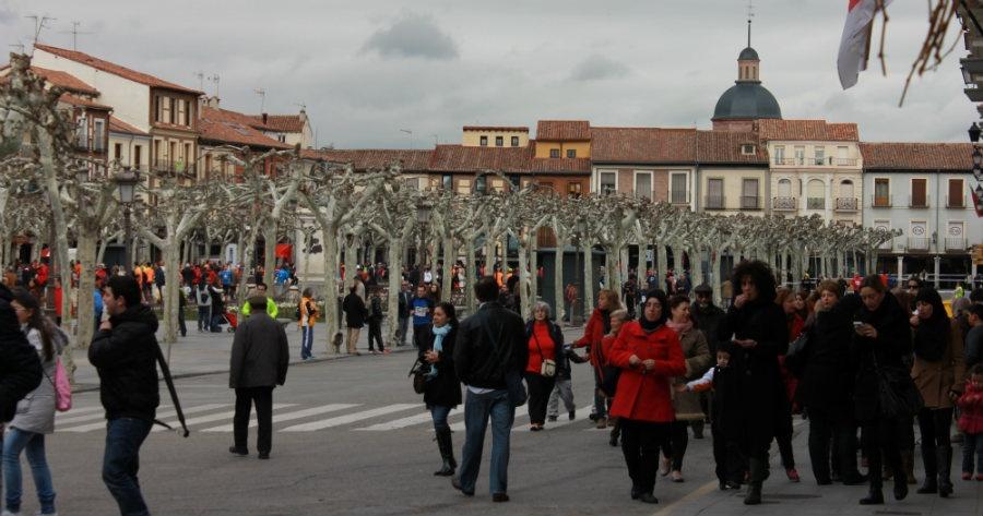 Vista general de la Plaza Cervantes de Alcalá de Henares