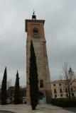 Campanario en la Plaza Cervantes de Alcalá de Henares