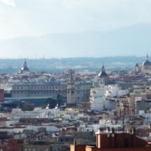 Cúpulas y edificios de Madrid desde el Cerro del Tío Pío