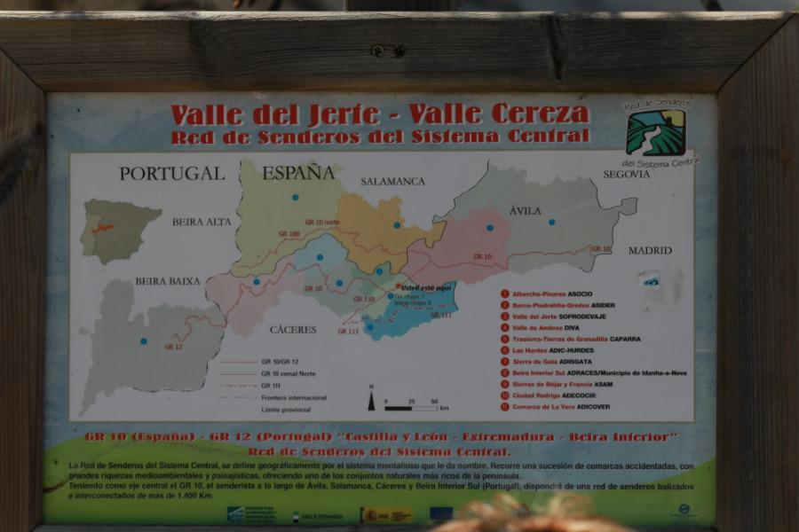Rutas a pie por el Valle del Jerte