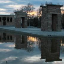 El Templo de Debod ofrece unas impresionantes estampas al atardecer
