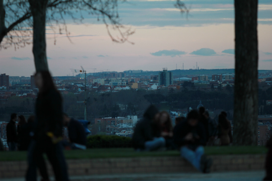 Desde el parque se puede disfrutar de estas preciosas vistas de Madrid