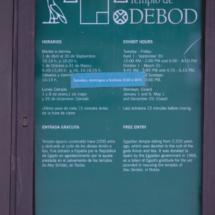 Cartel informativo del Templo de Debod