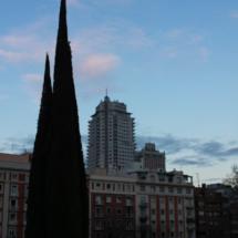 Los colores del atardecer permiten fotografiar Madrid de una manera diferente