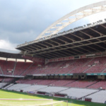 Gradas del antiguo estadio de San Mamés, en Bilbao