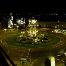 Vistas desde la antigua plaza de toros de Las Arenas, en Barcelona
