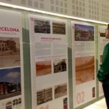 Exposición sobre la antigua plaza de toros de Las Arenas, en Barcelona