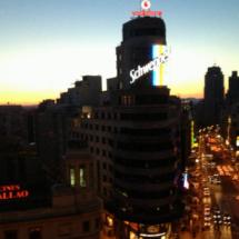Vistas desde el Rincón del Gourmet de El Corte Inglés de Callao, en Madrid