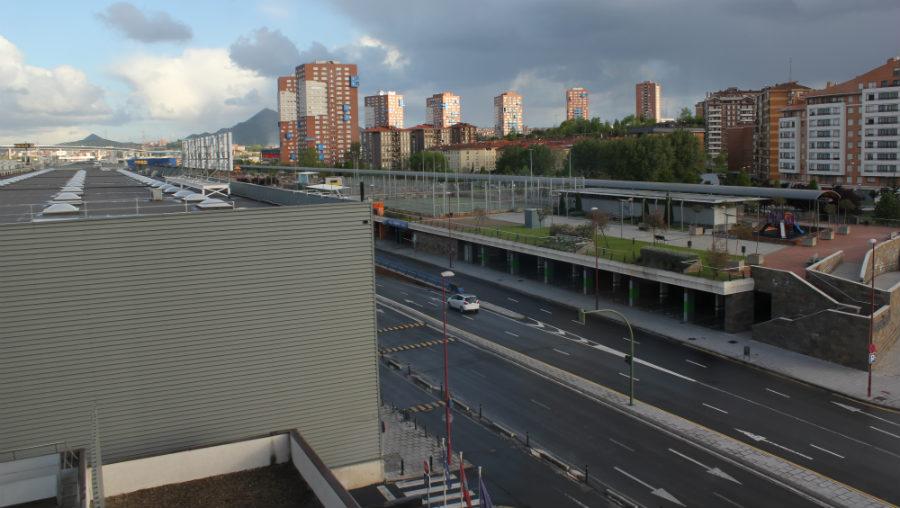 Vistas de Barakaldo desde la terraza del hotel Novotel Bilbao
