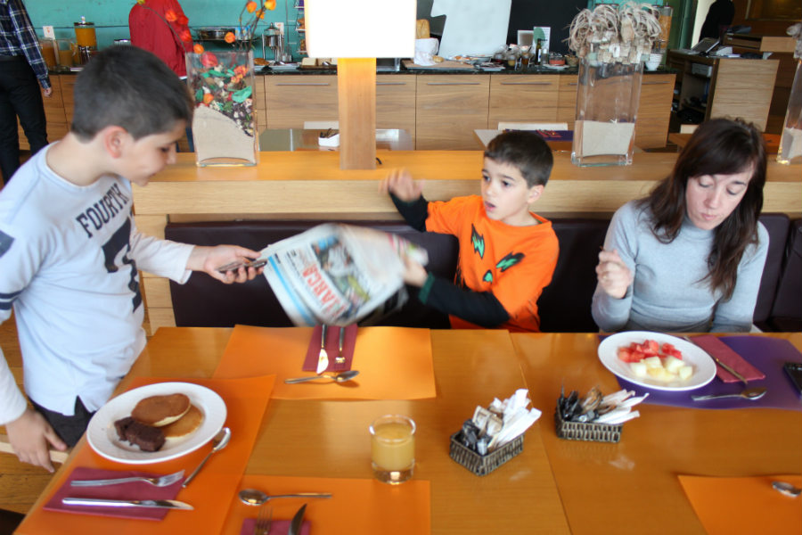 Hotel Novotel Bilbao: desayunos