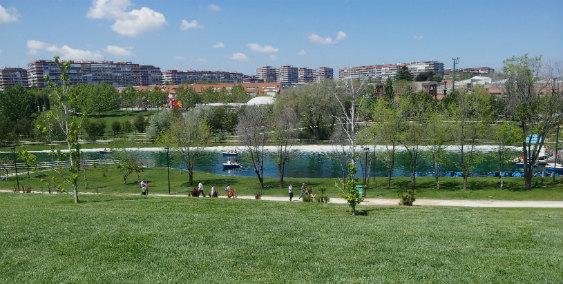 La entrada al Parque Europa de Torrejón es gratuita