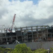 El nuevo San Mamés se encontraba en construcción cuando nosotros visitamos Bilbao, en 2013