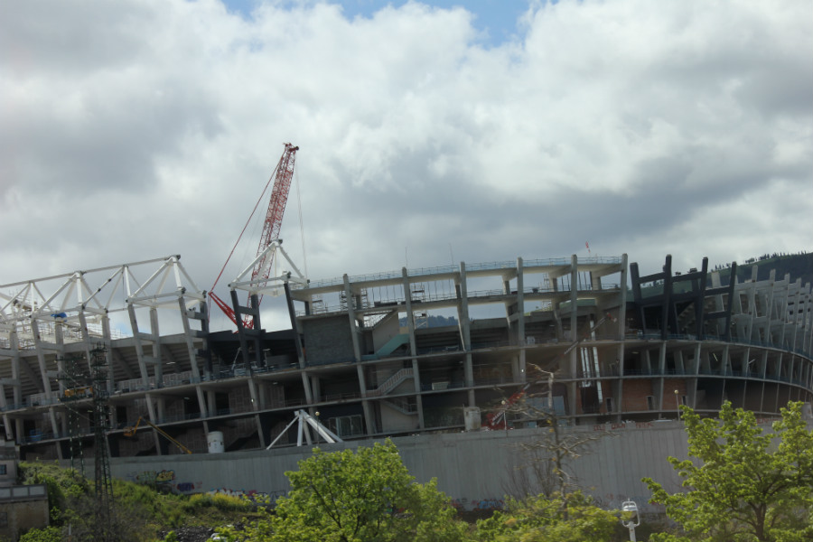 El nuevo San Mamés se encuentra en construcción