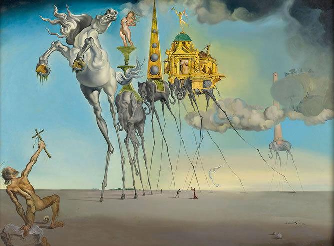 La tentación de San Antonio, Salvador Dalí, Reina Sofía