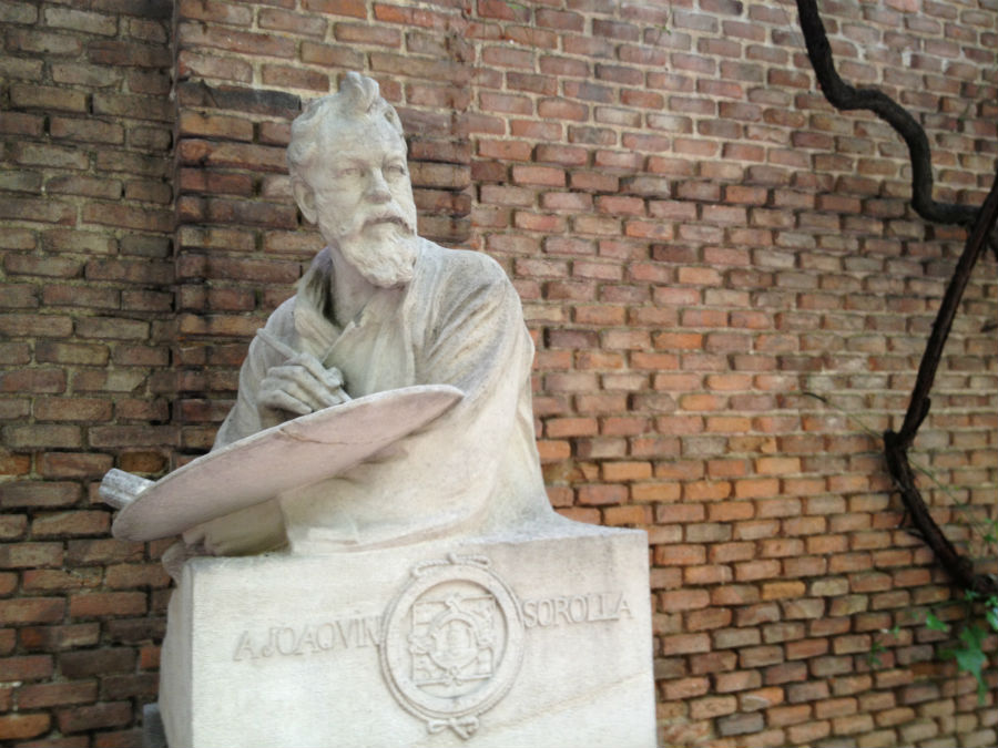 Casa Museo de Sorolla en Madrid: informaciónCasa Museo de Sorolla en Madrid: busto de Joaquín Sorolla