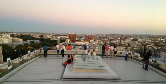 Vista general de la Terraza del Círculo de Bellas Artes de Madrid
