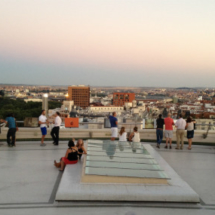 Vistas de Madrid desde la terraza del Círculo de Bellas Artes
