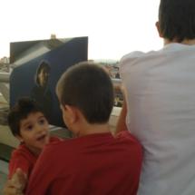La terraza del Círculo de Bellas Artes, con los niños